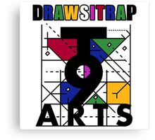 """DRAWSITRAP""The Message by tweek9arts - Black/White Colorway Canvas Print"