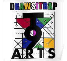 """DRAWSITRAP""The Message by tweek9arts - Black/White Colorway Poster"