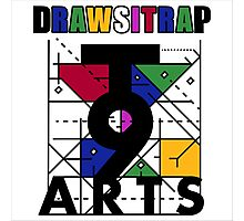 """DRAWSITRAP""The Message by tweek9arts - Black/White Colorway Photographic Print"