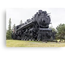 Steam locomotive on display Canvas Print