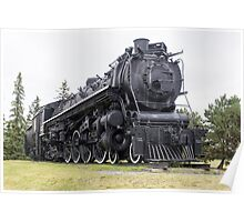 Steam locomotive on display Poster