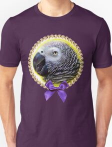 African grey parrot realistic painting Unisex T-Shirt