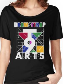 """""""DRAWSITRAP""""The Message by tweek9arts - White/Black Colorway Women's Relaxed Fit T-Shirt"""