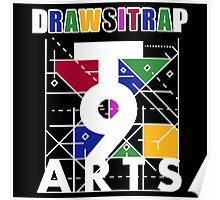"""DRAWSITRAP""The Message by tweek9arts - White/Black Colorway Poster"