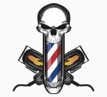 Skull and Barber Clippers T-Shirt
