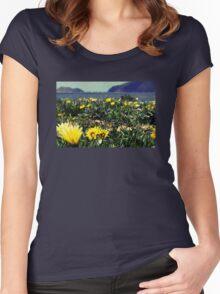 Seaside Flowers Women's Fitted Scoop T-Shirt