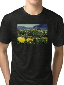 Seaside Flowers Tri-blend T-Shirt