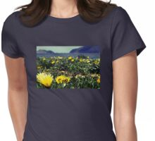 Seaside Flowers Womens Fitted T-Shirt