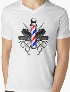 Barber Logo Mens V-Neck T-Shirt