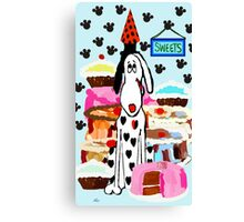 The Love of Cake Canvas Print