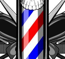 Barbershop Skull Sticker