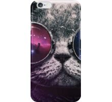 Galaxy Glasses Cat iPhone Case/Skin