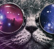 Galaxy Glasses Cat Sticker