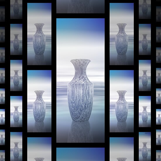 Abstract Vases Collage by Phil Perkins