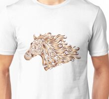 Beautiful Mustang - Bronze Unisex T-Shirt