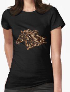 Beautiful Mustang - Bronze Womens Fitted T-Shirt