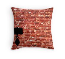 Brick Wall in a Hue of Reds Throw Pillow