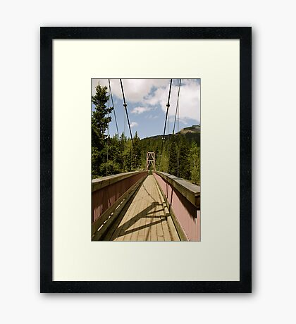 Crossing a Bridge Framed Print