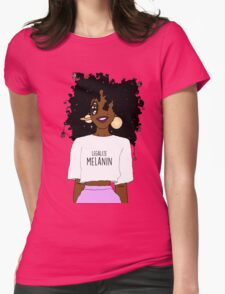 LEGALIZE MELANIN O (ABA) Womens Fitted T-Shirt