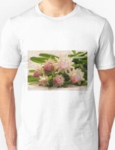Straw Flowers And Lace T-Shirt