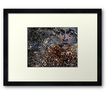 A Horrified Look To the Side Framed Print