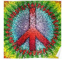 Abstract Peace Sign Poster