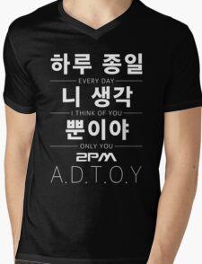 2PM A.D.T.O.Y Mens V-Neck T-Shirt
