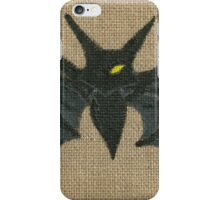Dark Bat (Burlap) iPhone Case/Skin