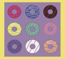 Donut pattern cartoon doughnuts Kids Tee