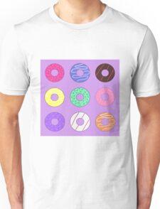 Donut pattern cartoon doughnuts Unisex T-Shirt