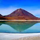 Volcano Reflection - Laguna Verde by Honor Kyne