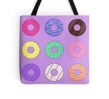Donut pattern cartoon doughnuts Tote Bag