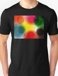 Colorful Retro Circles Unisex T-Shirt