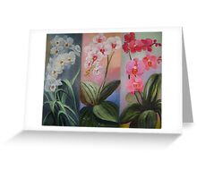 butterfly orchids trio Greeting Card