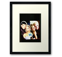 Buffy N Angel or Spike Framed Print