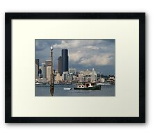 Watching The Ships Go By Framed Print