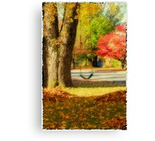 Swinging into Fall Canvas Print