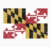 Maryland Flag Distressed by Alanna Schloss