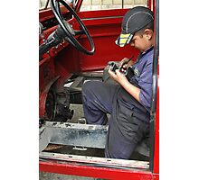 Young Mechanic Photographic Print