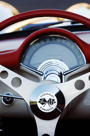 1957 Chevrolet Corvette Convertible Steering Wheel by Jill Reger