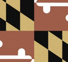 Faded Maryland Flag Sticker