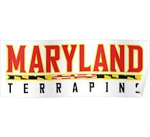 Maryland Terrapins Logo White Poster