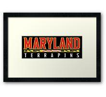 Maryland Terrapins Logo Black Framed Print