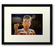 bubbles. Framed Print