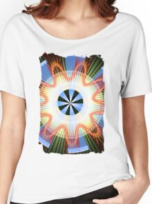 Rays, waves and circles pattern Women's Relaxed Fit T-Shirt