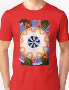 Rays, waves and circles pattern Unisex T-Shirt