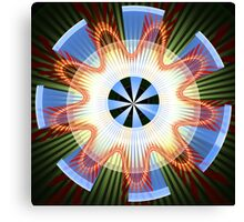 Rays, waves and circles pattern Canvas Print
