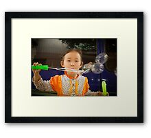 bubbles.. Framed Print