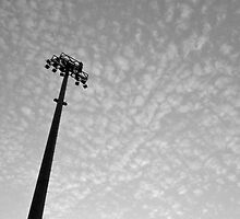 Stadium lights (in black and white) by Kaoss134