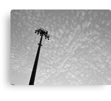 Stadium lights (in black and white) Canvas Print